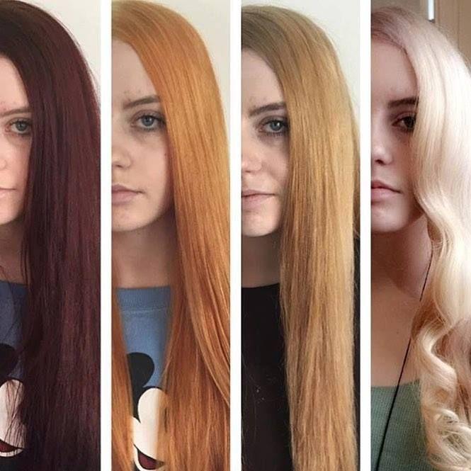 From Dark Hair To Blonde