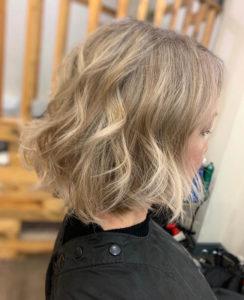 balayage at anthony james hairdressing salon in halifax