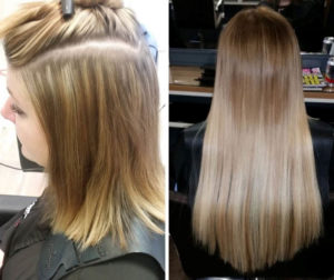 hair extensions at anthony james hairdressers in halifax